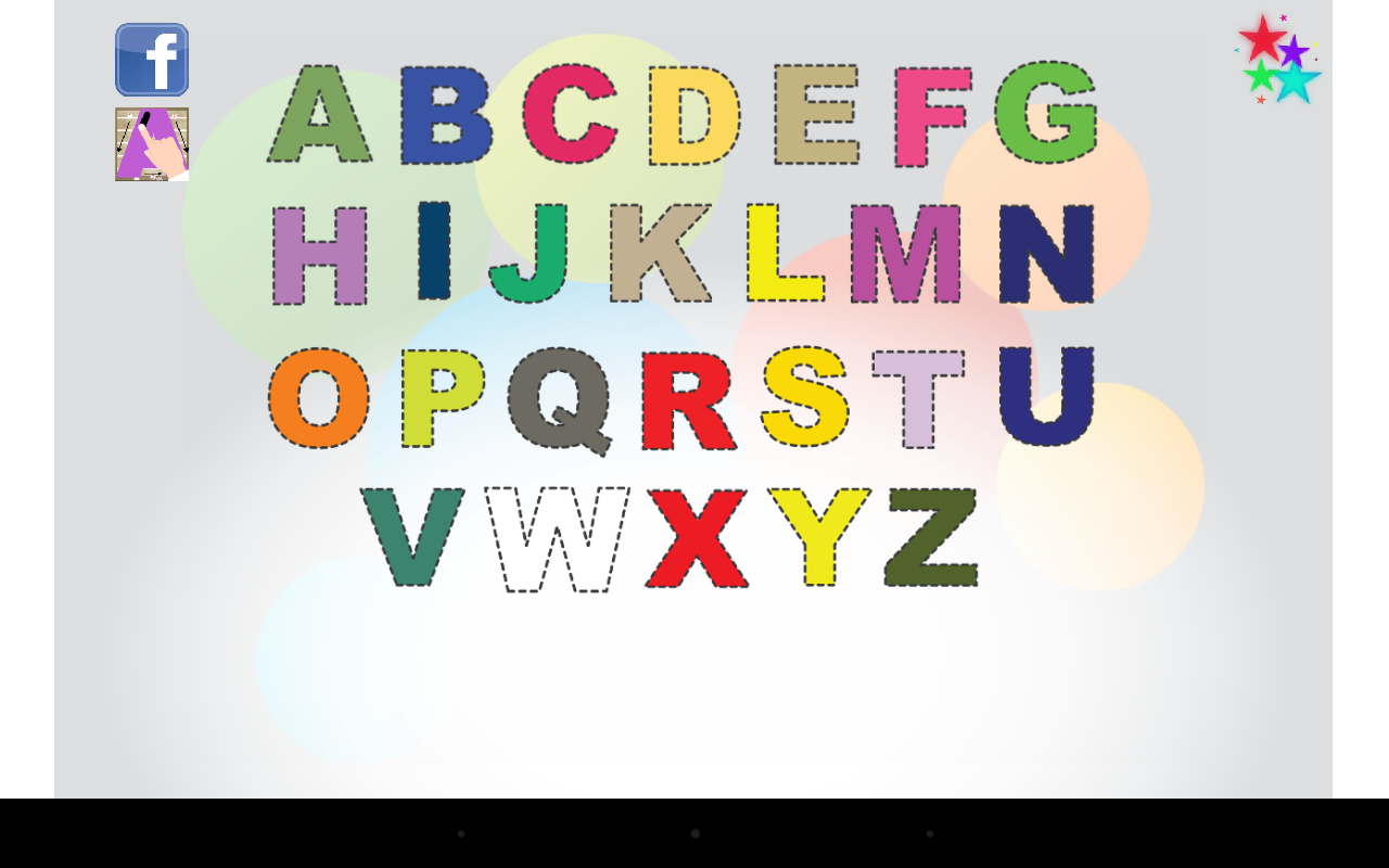 kids trace write letters abc screenshot