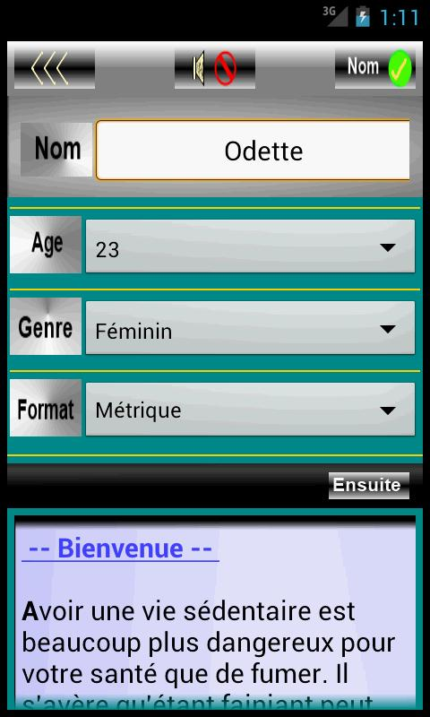 Innovation de Santé d'Individu - screenshot
