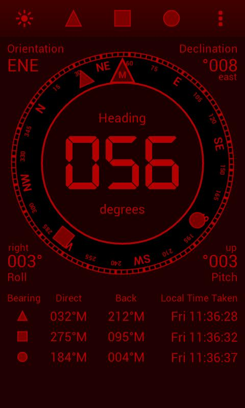 Digital Field Compass- screenshot