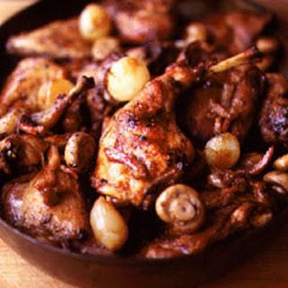 Civet de Lapin (Rabbit Stew with Red Wine).