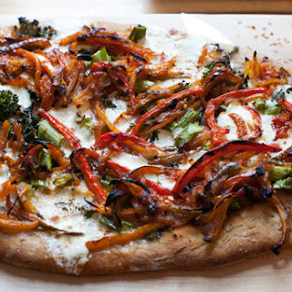 Peperonata Pizza with Broccolini & Fresh Mozzarella