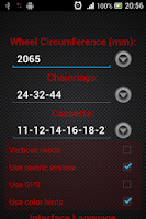 Screenshot of Cadence Calculator for Cycling