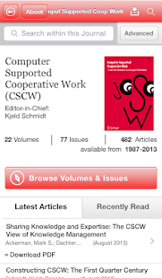CSCW Journal - screenshot thumbnail