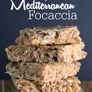 Easy Mediterranean Focaccia with Olives and Artichokes