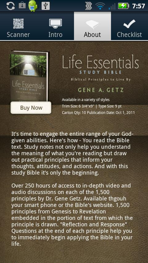 Life Essentials QR Reader - screenshot