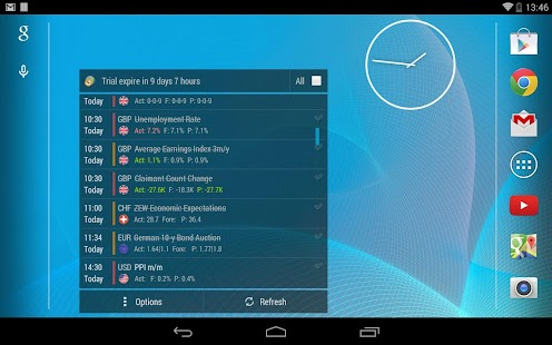 Forex calendar android app