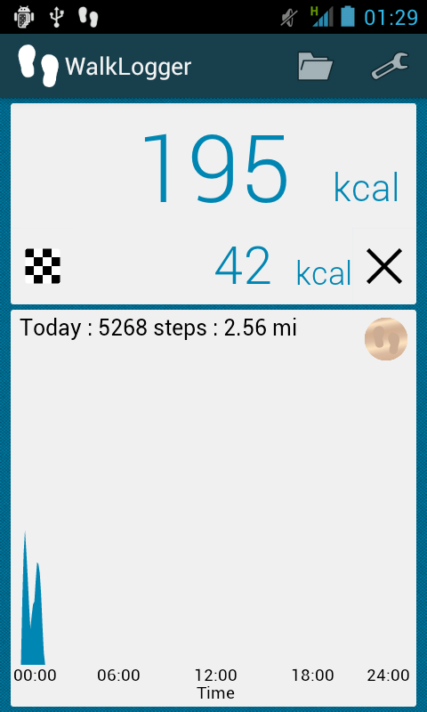 WalkLogger pedometer - screenshot