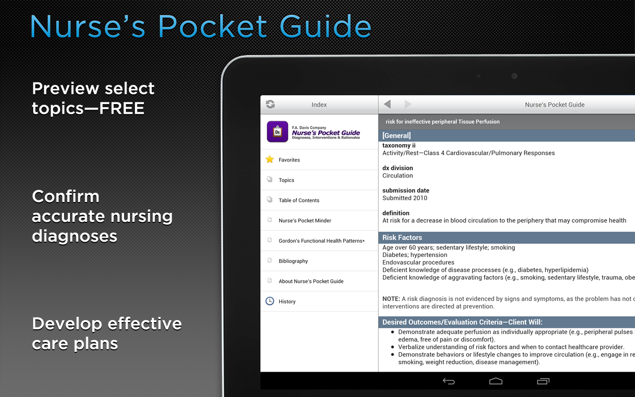 Nurse's Pocket Guide- screenshot