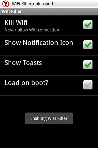 WiFi Killer - screenshot
