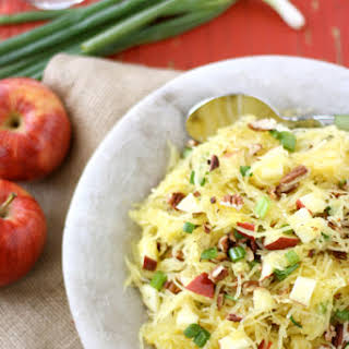 Spaghetti Squash with Apples & Toasted Pecans.