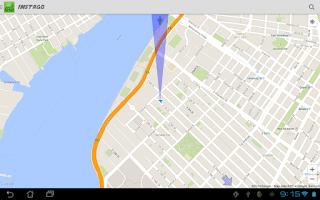 Screenshot of Instago Street View Navigation