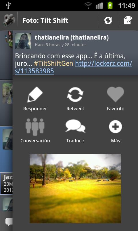 TweetTopics 1.0 (old version)- screenshot