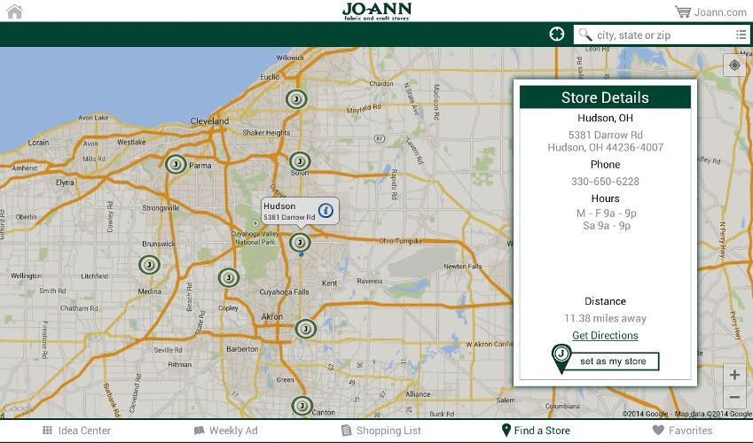 Jo-Ann Inspire for Tablets- screenshot