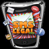 SMS Legal PRO mensagem pronta.