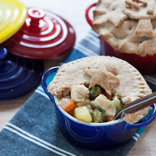 Chicken Pot Pie with Whole Wheat Crust.