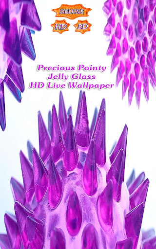 Precious Pointy Jelly Glass 3D