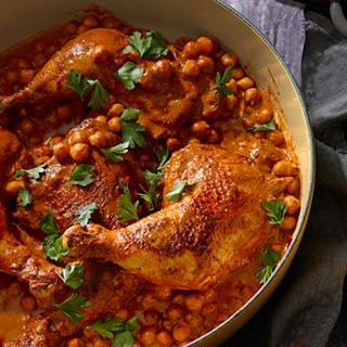 Chicken Charmoula with Chickpeas.