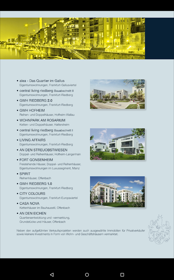 SELECT Immobilien – Screenshot