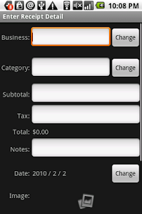Receipt Filer Gold- screenshot thumbnail