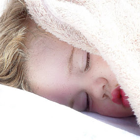 Samantha sleeping on the beach...long, hard day of playing! by Dorothy Valine Gram - Babies & Children Child Portraits