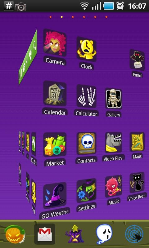 Mystical Cartoon GO Launcher - screenshot