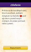 Screenshot of Rádio LUMEN