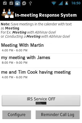 IRS:In-meeting Response System