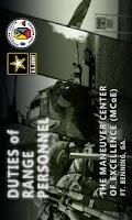 Screenshot of Duties of Range Personnel