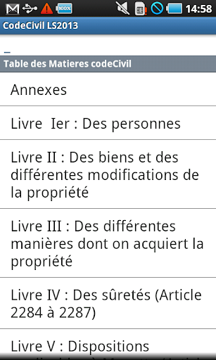 Code Civil LS 2014