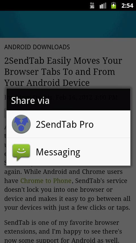 2SendTab Pro- screenshot
