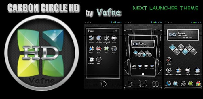 Carbon HD Next Launcher Theme apk