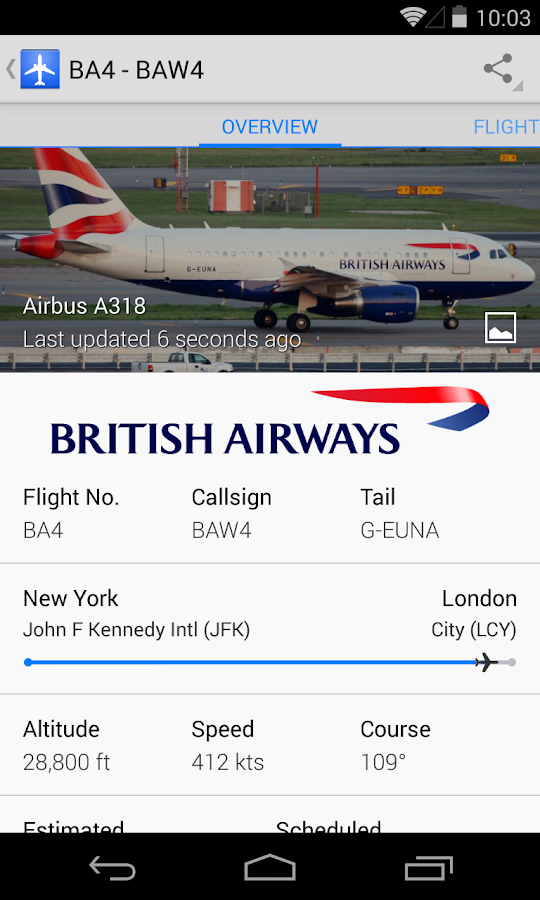 Plane Finder- screenshot