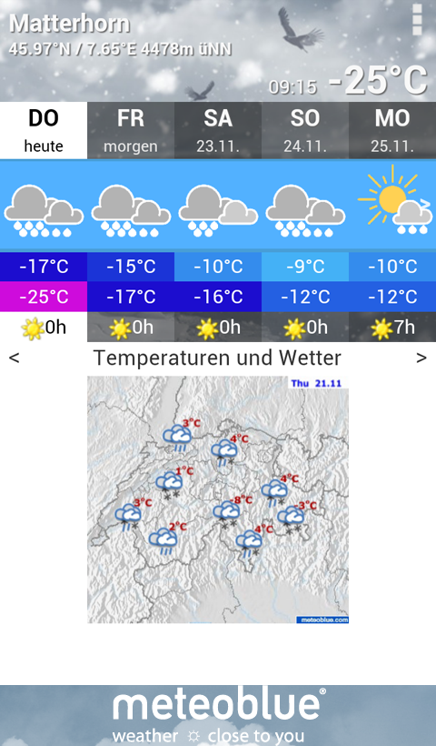 meteoblue - screenshot