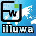 'illuwa' Location-delivery logo
