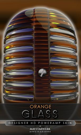 ガラス poweramp 皮膚オレンジ