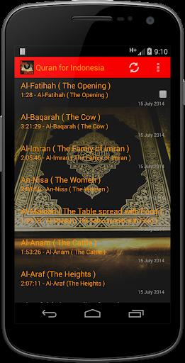 Quran for Indonesia AUDIO