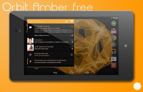 Orbit Amber Free-PA/CM11 Theme - screenshot thumbnail