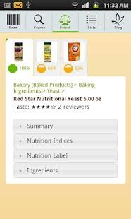 FoodSmart Healthy Grocery List - screenshot thumbnail