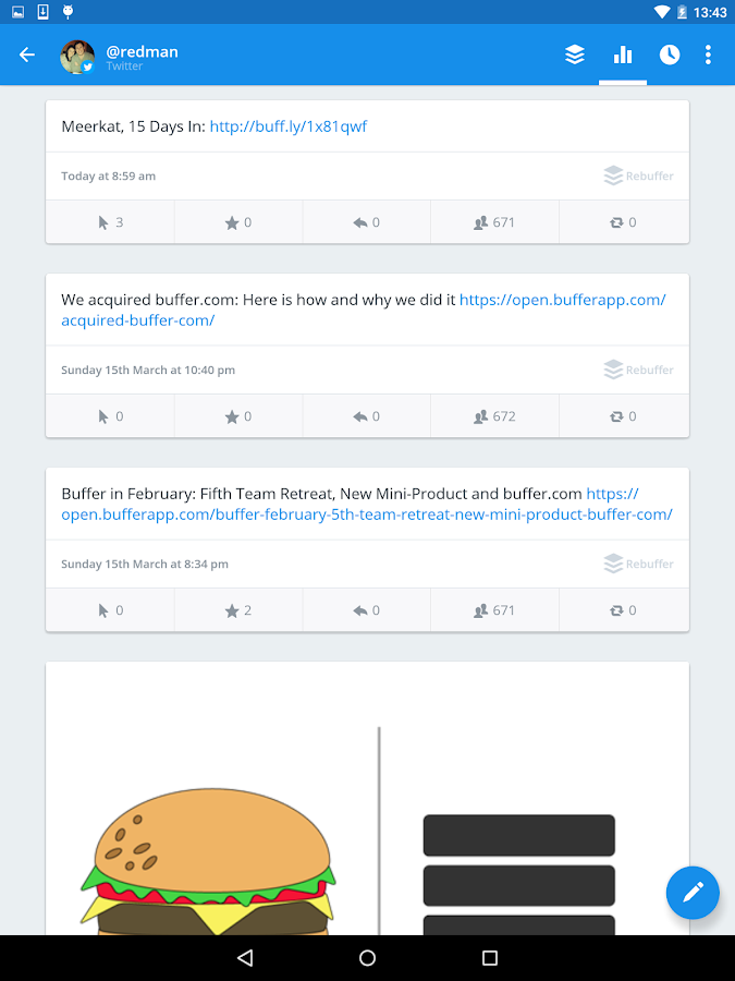 Buffer: Social Media, Twitter - screenshot