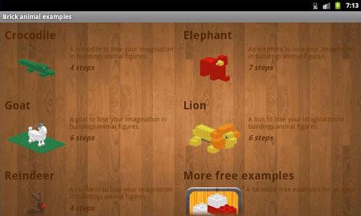 玩免費解謎APP|下載Brick animal examples app不用錢|硬是要APP