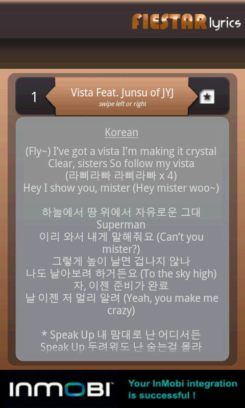 Fiestar Lyrics- screenshot
