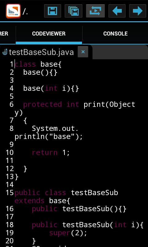 Sand IDE Pro for Java- screenshot