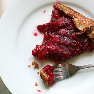 Rhubarb and Raspberry Crostata