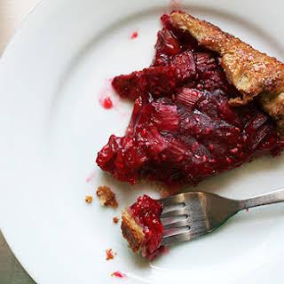 Rhubarb and Raspberry Crostata.
