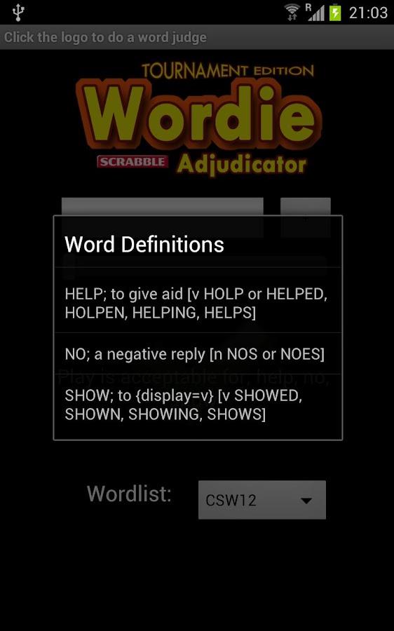 Wordie Scrabble Adjudicator Te Android Apps On Google Play