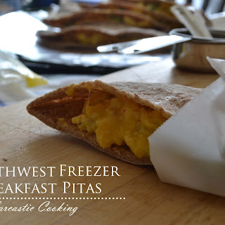 Southwest Freezer Breakfast Pitas