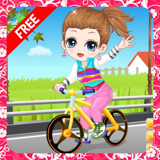 自行车游戏的女孩 休閒 App LOGO-硬是要APP