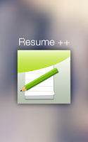 Screenshot of Resume ++ (A Resume Developer)