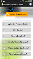 Screenshot of Firmware Rooted Checker