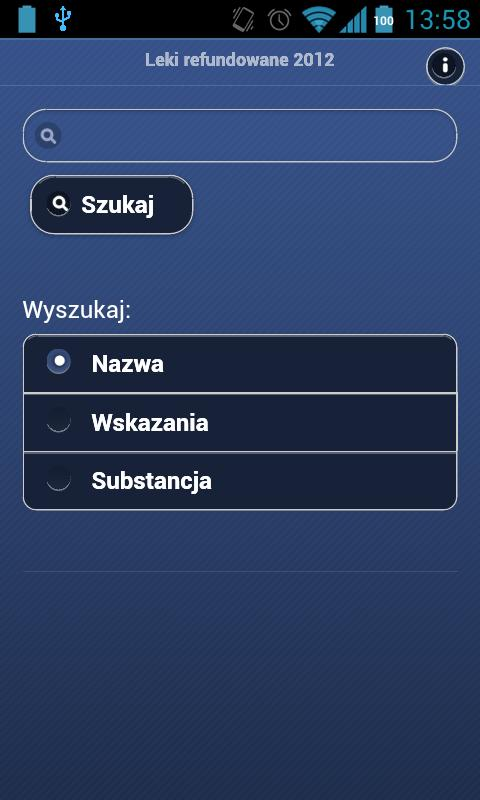 Subsidized drugs (Polish)- screenshot